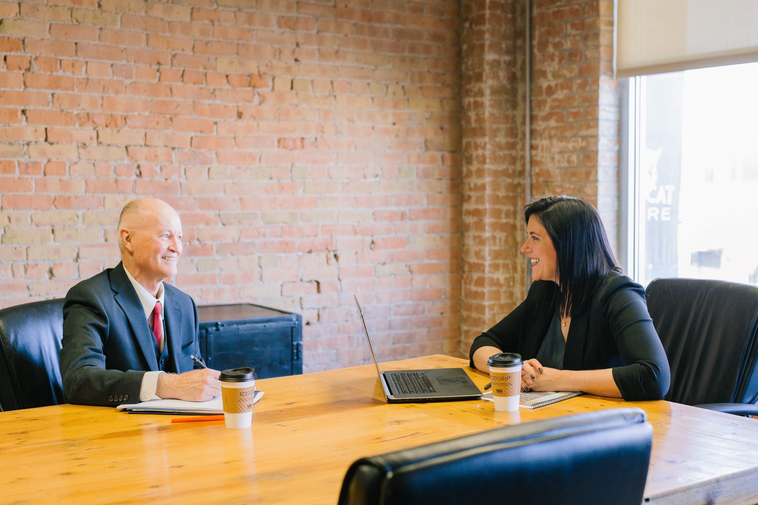 Met werkgever in gesprek